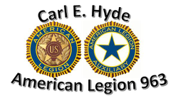 Carl E. Hyde American Legion, post #963 sponsorship sticker